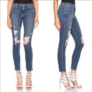 Frame Le High Skinny Distressed Seely Denim Jean